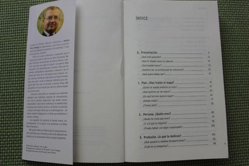 Índice del libro Expertologia, de Andrés Peréz Ortega