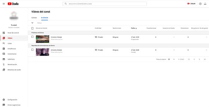 YouTubeLive-en-directo - Lifestyle al cuadrado